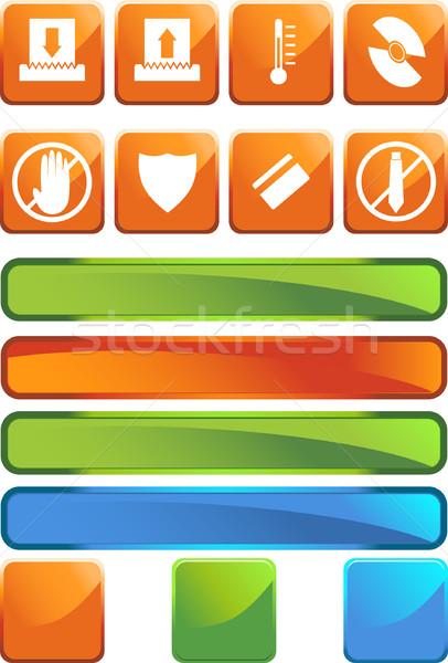 Iratmegsemmisítő ikon szett papír ikonok iroda terv Stock fotó © cteconsulting