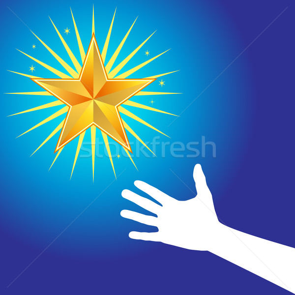 Hand Reaches for Star Stock photo © cteconsulting