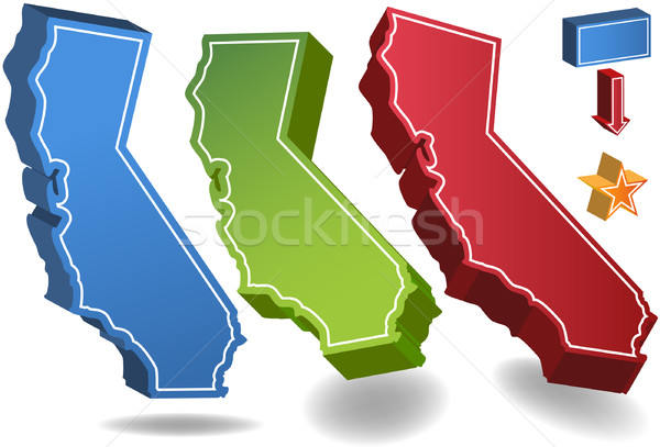 California 3D Stock photo © cteconsulting
