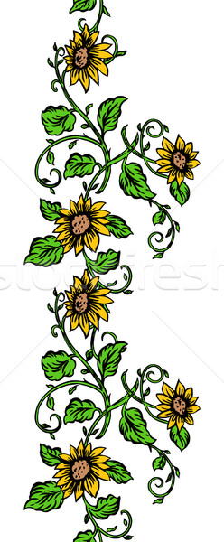 Repeating Sunflower Banner Stock photo © cteconsulting