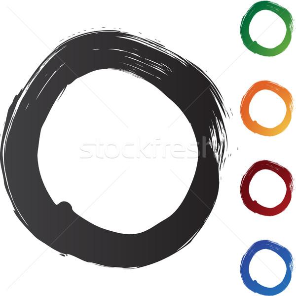 Kółko odizolowany biały tekstury projektu farby Zdjęcia stock © cteconsulting