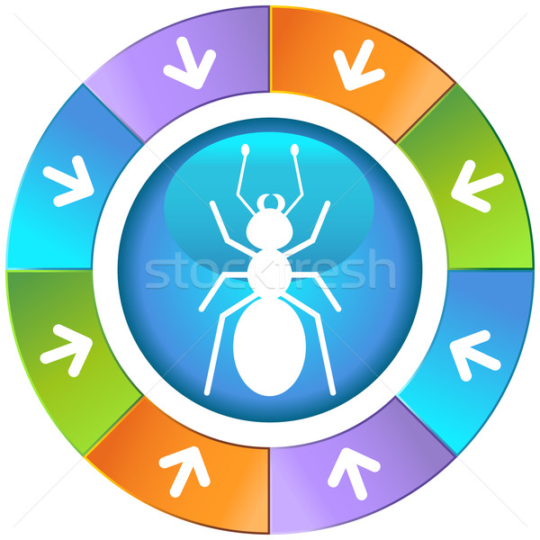 Arrows with Wheel - Ant Stock photo © cteconsulting