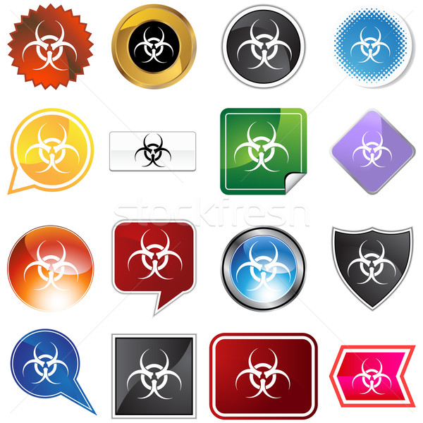 Biohazard Icon Set Stock photo © cteconsulting