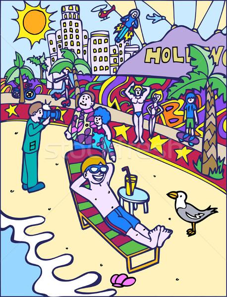 Kid Adventures: Sun Bathing at the Beach Stock photo © cteconsulting