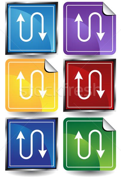 Ethernet ikona obraz sieci kabel cyfrowe Zdjęcia stock © cteconsulting