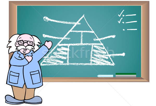 黒板 教授 立って 図面 ビジネス 三角形 ストックフォト © cteconsulting