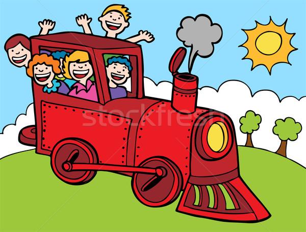 Child Train Ride Stock photo © cteconsulting