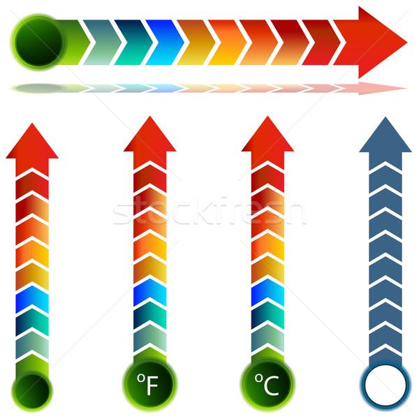 Thermometer Temperature Arrow Set Stock photo © cteconsulting