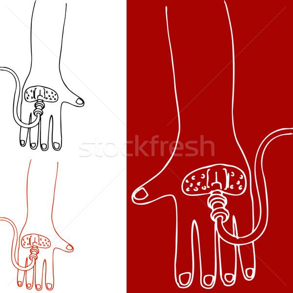 Intravenoso terapia mão imagem tubo bandagem Foto stock © cteconsulting