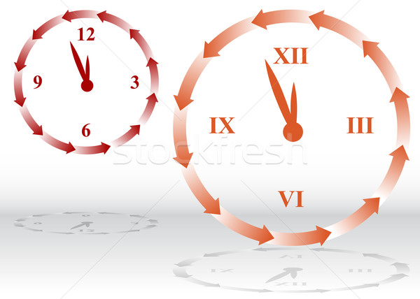 Backward Clock Stock photo © cteconsulting