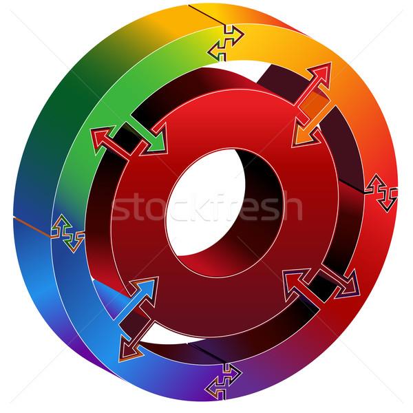 Process Circle Diagram Stock photo © cteconsulting