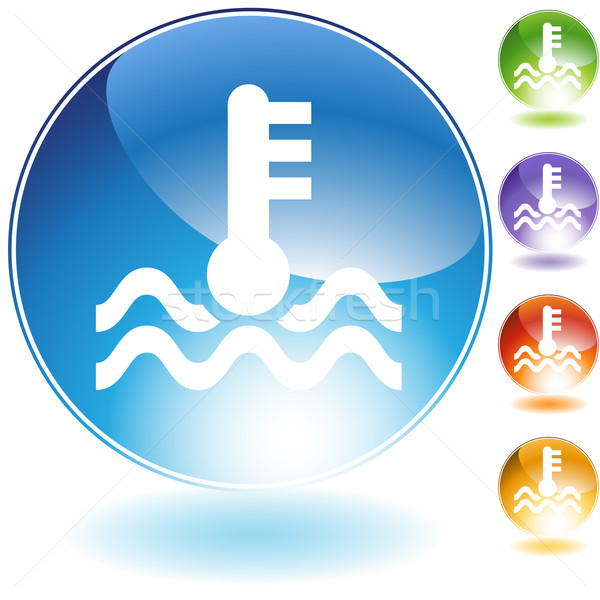 Water Temperature Crystal Icon Stock photo © cteconsulting