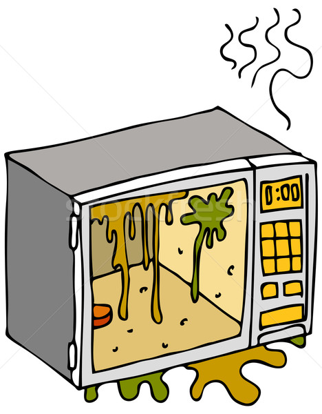 Dirty Microwave Oven Stock photo © cteconsulting
