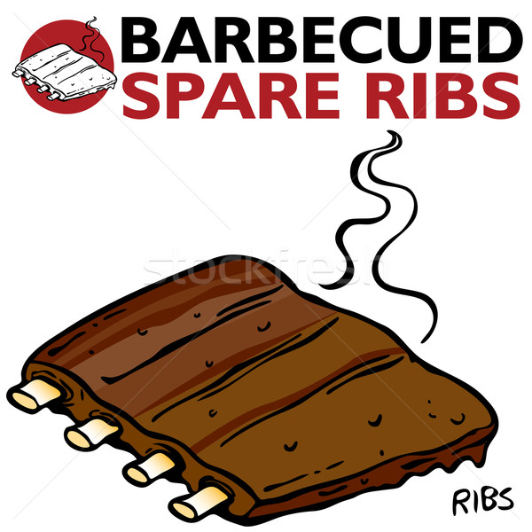 Barbecued Spare Ribs Stock photo © cteconsulting