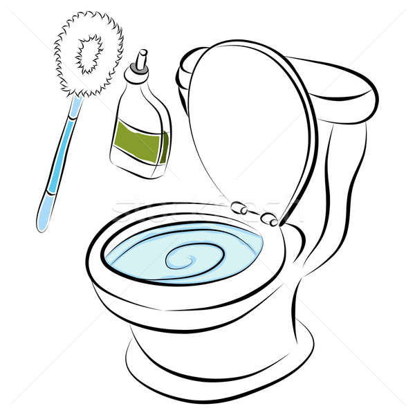 Toilet Bowl Cleaning Tools Stock photo © cteconsulting