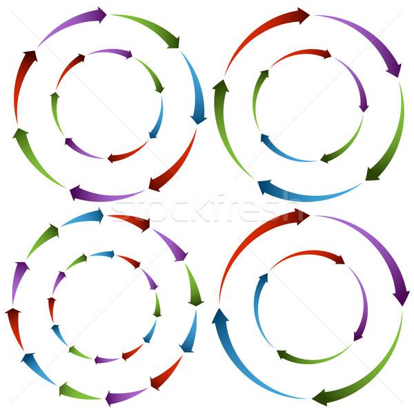 Seta rodas imagem azul roda Foto stock © cteconsulting