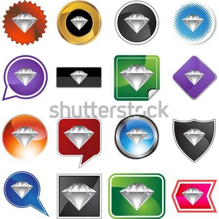 Diamant juweel variëteit ingesteld geïsoleerd Stockfoto © cteconsulting
