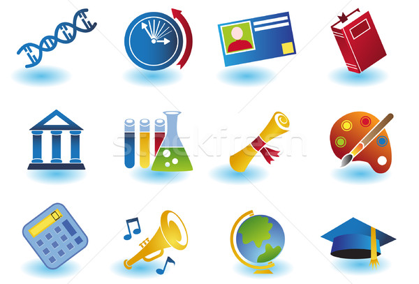 Education Icons Stock photo © cteconsulting