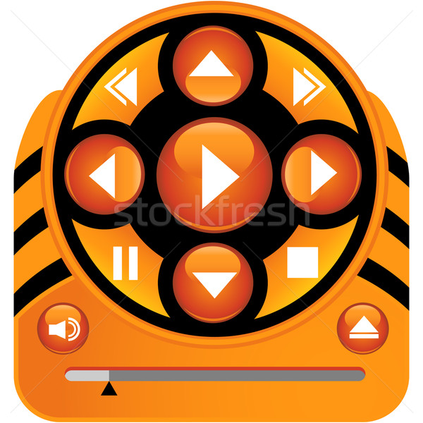 Multimedia Icons Stock photo © cteconsulting