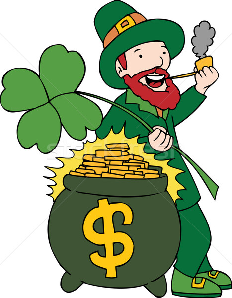 Lucky Pot of Gold Stock photo © cteconsulting