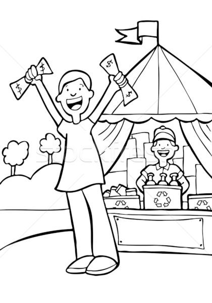 Dinheiro reciclagem desenho animado imagem cara livro Foto stock © cteconsulting