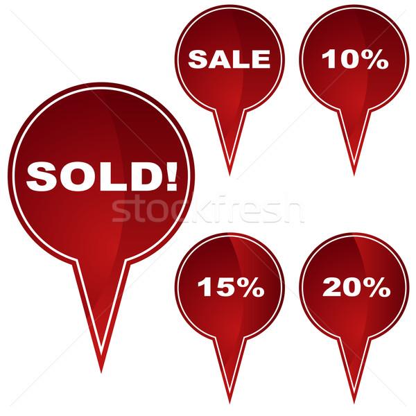 Retail icone business home successo Foto d'archivio © cteconsulting