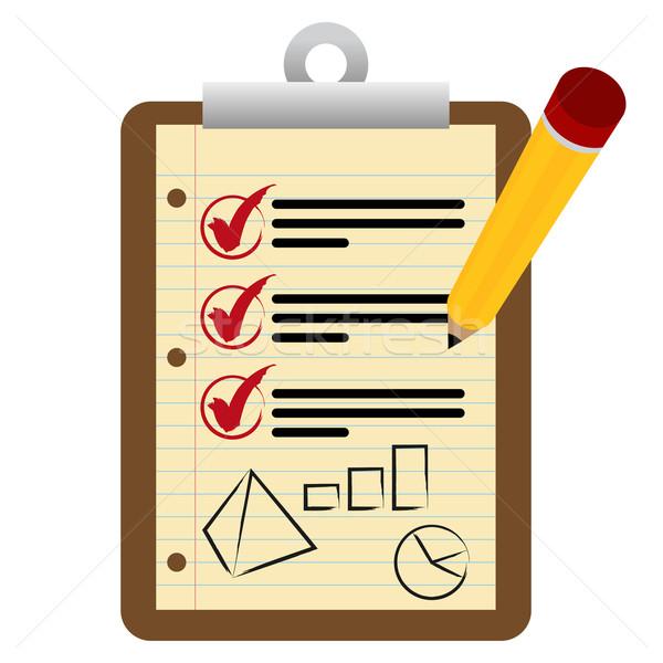 金融 チェックリスト クリップボード 画像 鉛筆 赤 ストックフォト © cteconsulting