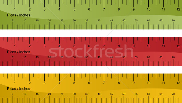 Pica Ruler Set Stock photo © cteconsulting