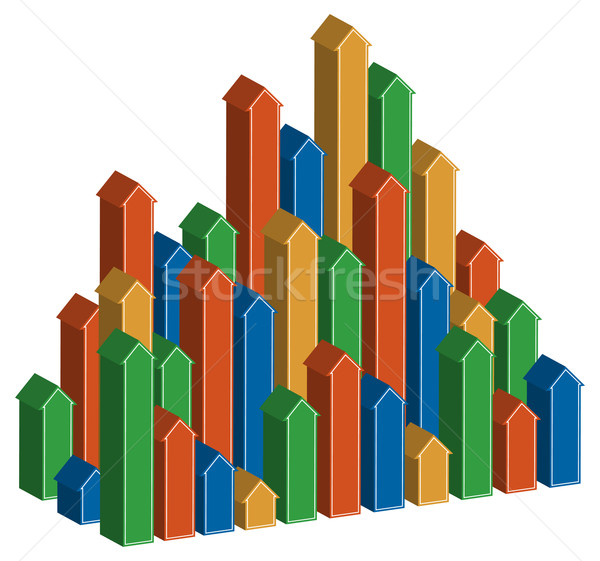 3D Arrows Rising Vertically Stock photo © cteconsulting