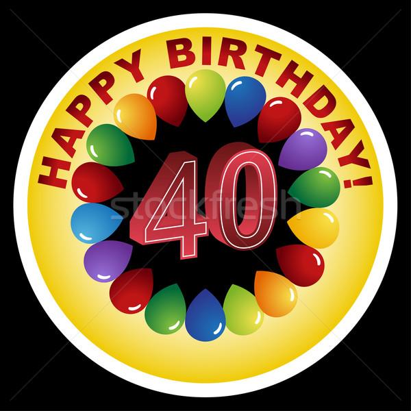 Happy Birthday Icon - Happy 40th Stock photo © cteconsulting