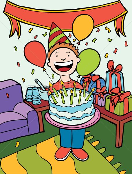 Tempo de festa criança festa de aniversário feliz projeto arte Foto stock © cteconsulting