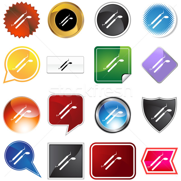Dental Tool Icon Set Stock photo © cteconsulting