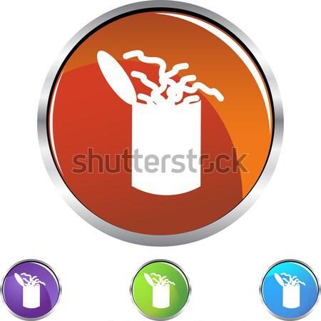 Verme lata cristal ícone isolado branco Foto stock © cteconsulting