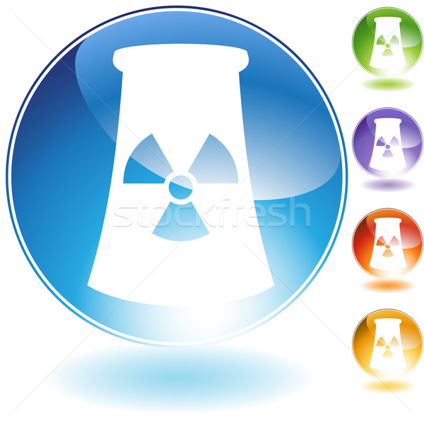 Nuclear Powerplant Crystal Icon Stock photo © cteconsulting