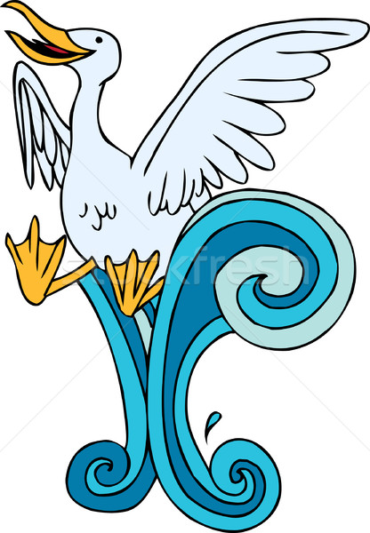 Splashing Seagull Stock photo © cteconsulting