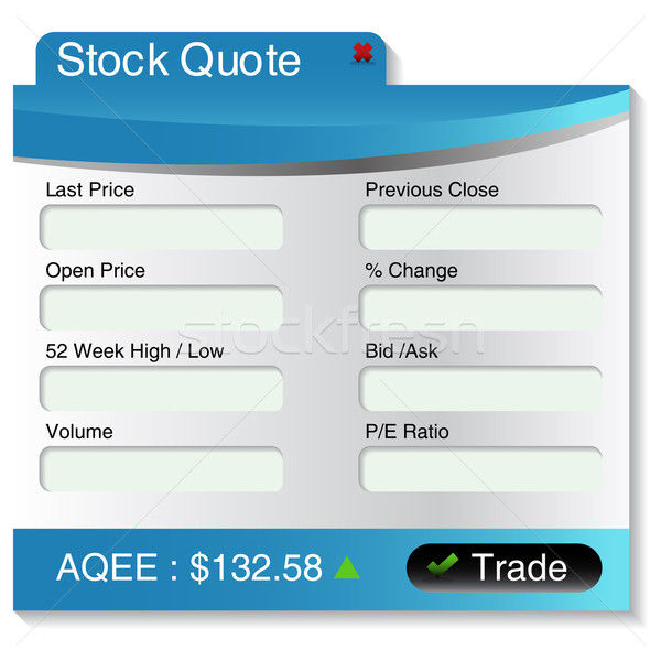 Stock Market Quote Menu Stock photo © cteconsulting