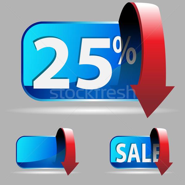 Vinte cinco por cento imagem de vendas botões Foto stock © cteconsulting