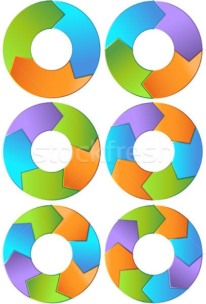 Chevron Diagram Set Stock photo © cteconsulting