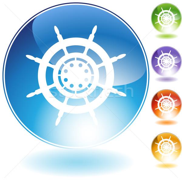 Ship Steering Wheel Stock photo © cteconsulting