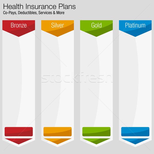 Egészségbiztosítás terv diagram kép üzlet egészség Stock fotó © cteconsulting