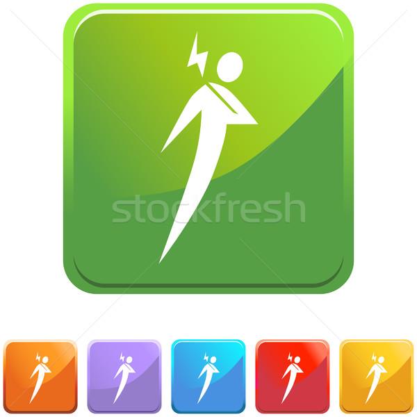 Schouderpijn ingesteld iconen ontwerp gezondheid oranje Stockfoto © cteconsulting