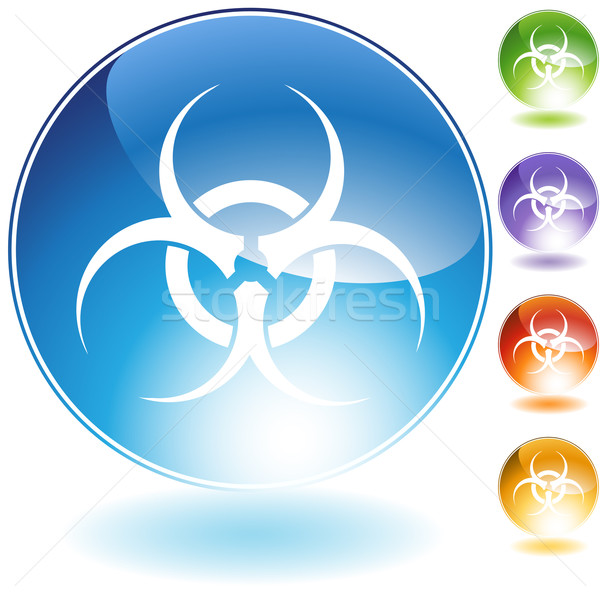 Biohazard Crystal Icon Stock photo © cteconsulting