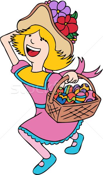 イースターエッグハント 子 イースター 卵 少女 ストックフォト © cteconsulting
