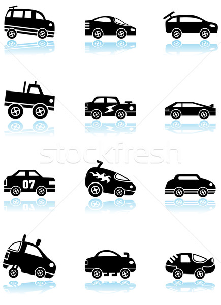 Stock photo: Racecars