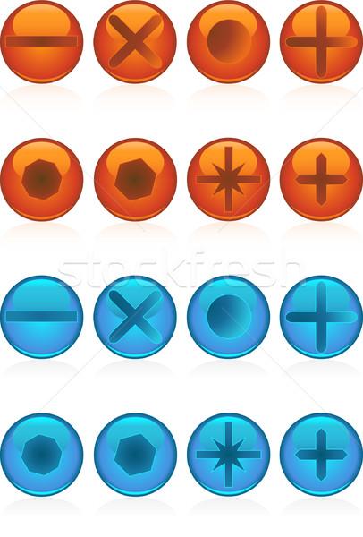 スクリプト デザイン ボックス 矢印 ボタン ストックフォト © cteconsulting
