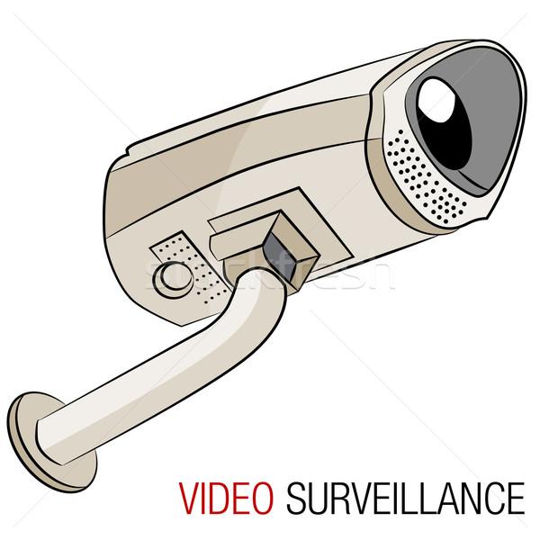 Video bewakingscamera afbeelding veiligheid monitor record Stockfoto © cteconsulting
