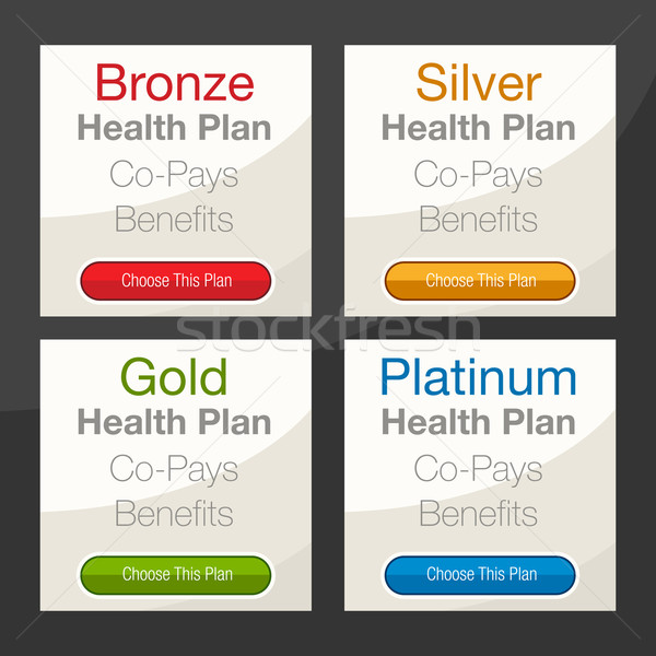 Zorgverzekering plan grafiek afbeelding business gezondheid Stockfoto © cteconsulting