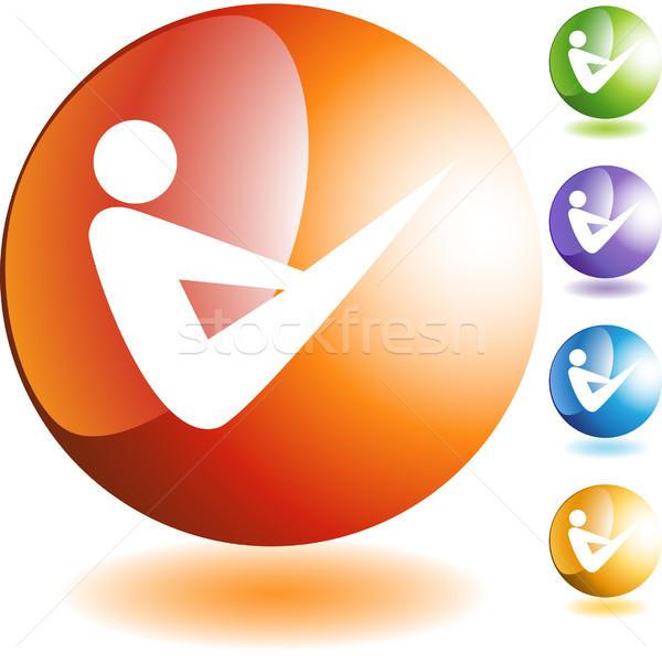 Yoga Icon Stock photo © cteconsulting