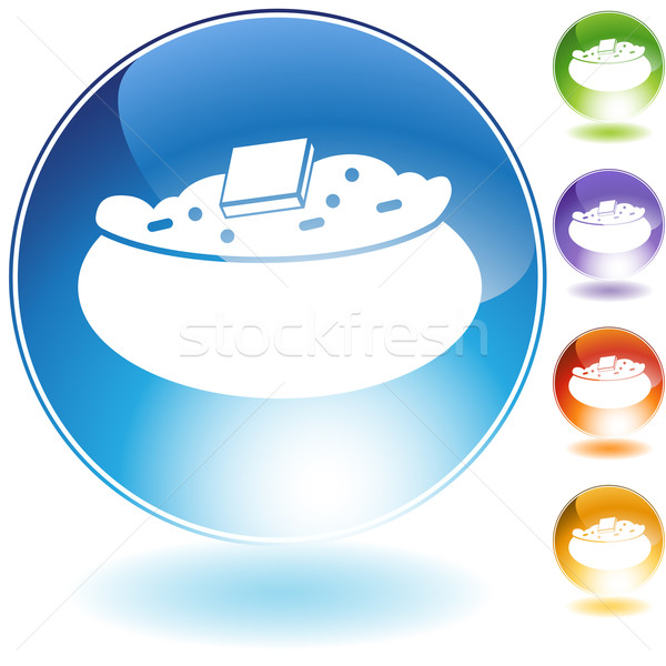 Baked Potato Crystal Icon Stock photo © cteconsulting