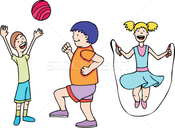 Kids Play and Exercise Stock photo © cteconsulting